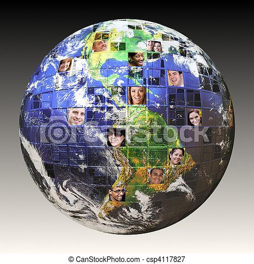 Una red mundial de gente - csp4117827