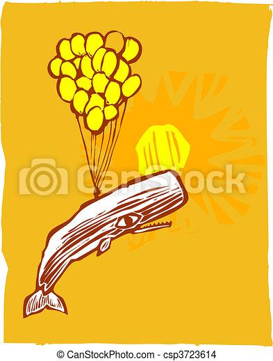 Globos de ballena y amarillo - csp3723614