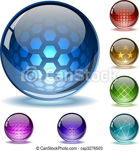 Coloridos globos abstractos - csp3276503