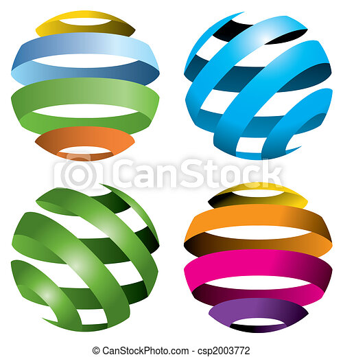 4 globos vectores - csp2003772