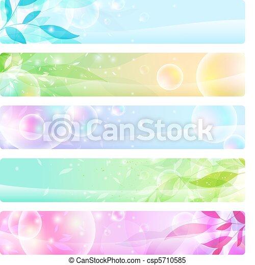 Glosssy Banners coloridos, cabezas - csp5710585