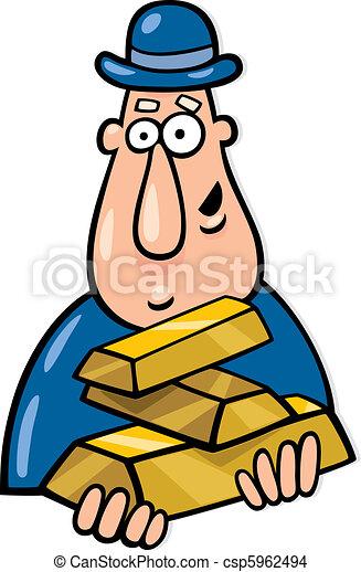 Hombre con barras de oro - csp5962494
