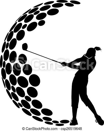 Diseño femenino de golf G - csp26519648