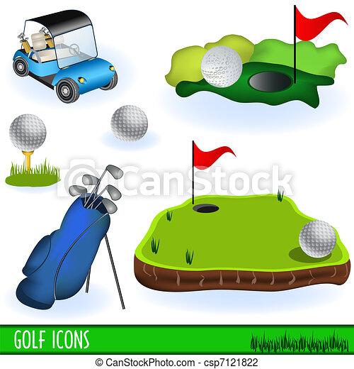 iconos del golf - csp7121822