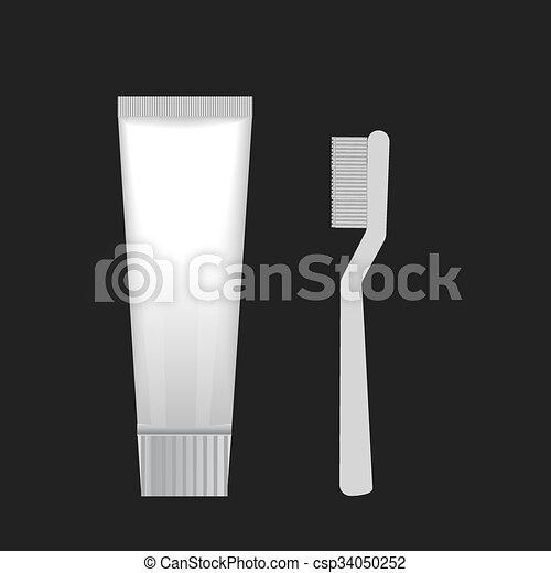 Cepillos con pasta de dientes - csp34050252