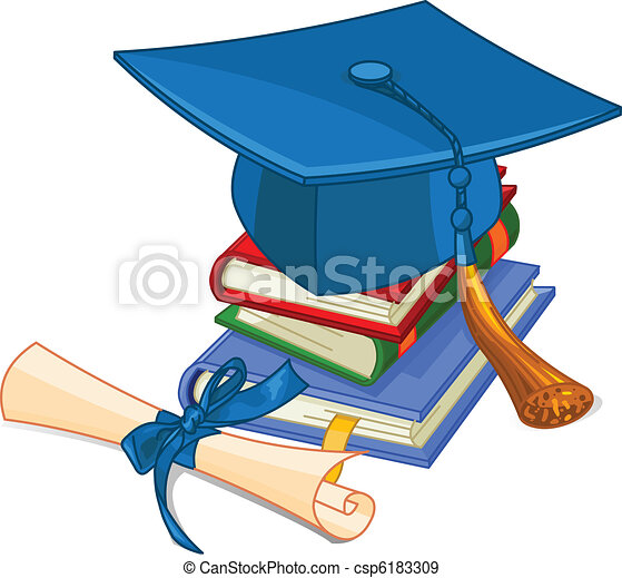 Capa de graduación y diploma - csp6183309