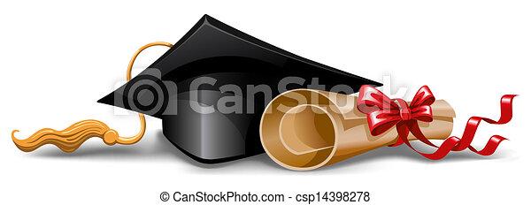 Capa de graduación y diploma - csp14398278