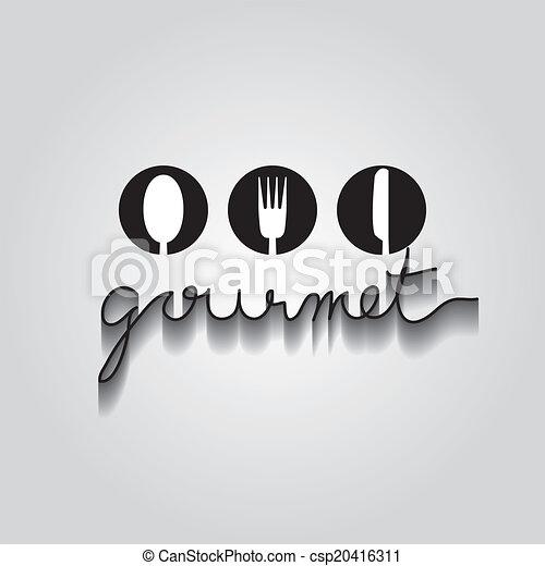 Gourmet vector de error, EPS 10 - csp20416311