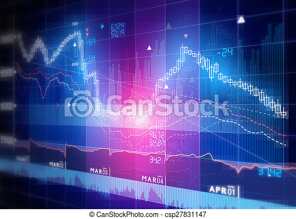 Gráfico de bolsa - csp27831147