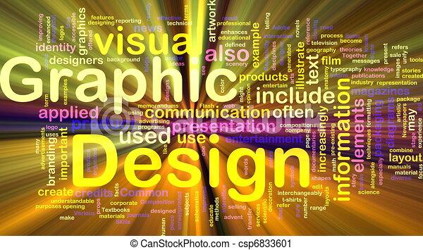 El concepto de diseño gráfico brilla - csp6833601