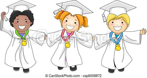 Medallas de graduación - csp6008872