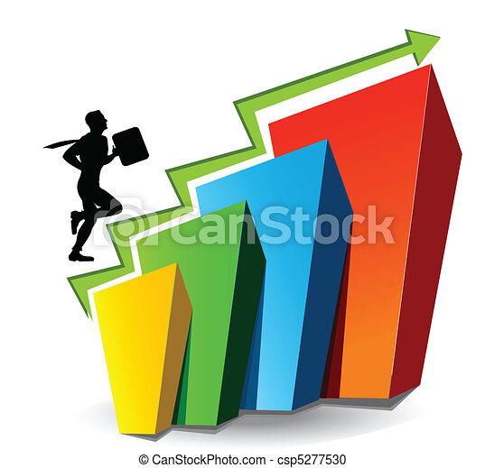 Grafico de negocios - csp5277530