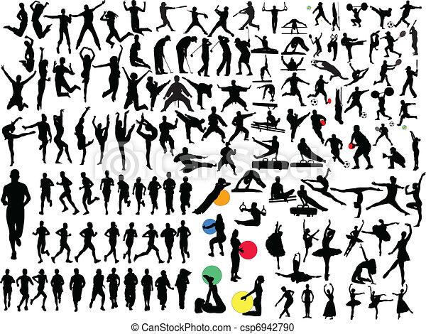 Gran colección de deportes diferentes - csp6942790