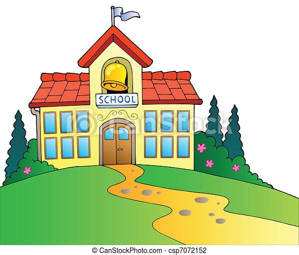 Gran edificio escolar - csp7072152