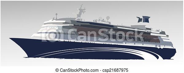 Un gran barco de pasajeros - csp21687975