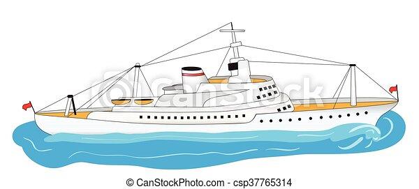 Un gran barco blanco - csp37765314