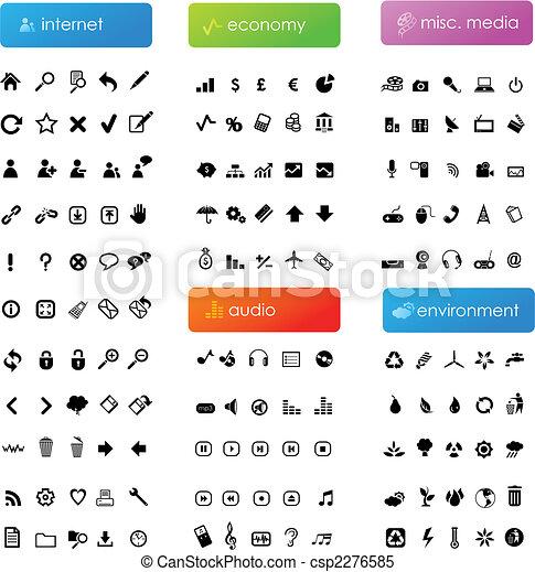 Gran colección de iconos - csp2276585