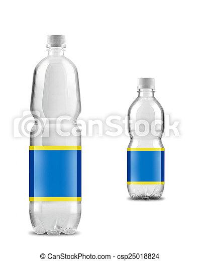 Grande con poca agua embotellada - csp25018824