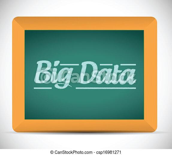 Grandes datos escritos en una pizarra. - csp16981271