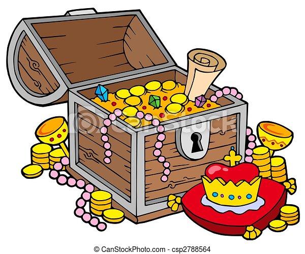 Gran cofre del tesoro - csp2788564