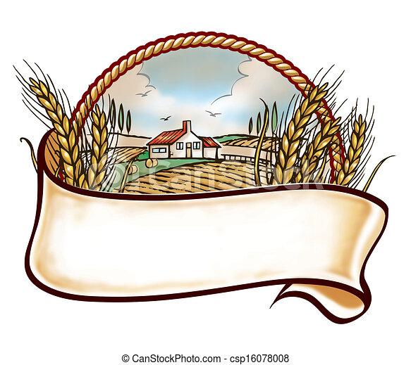 El emblema de la granja - csp16078008