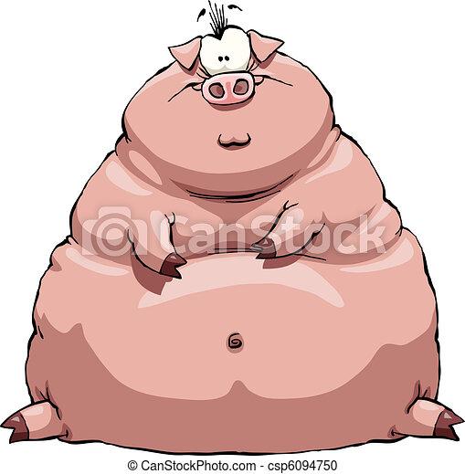 Cerdo gordo - csp6094750