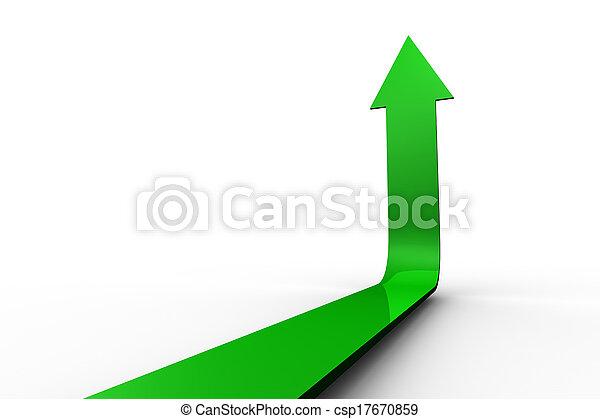 Green Arrow apuntando hacia arriba - csp17670859