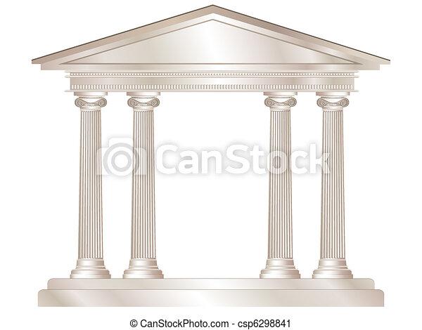 Templo griego - csp6298841