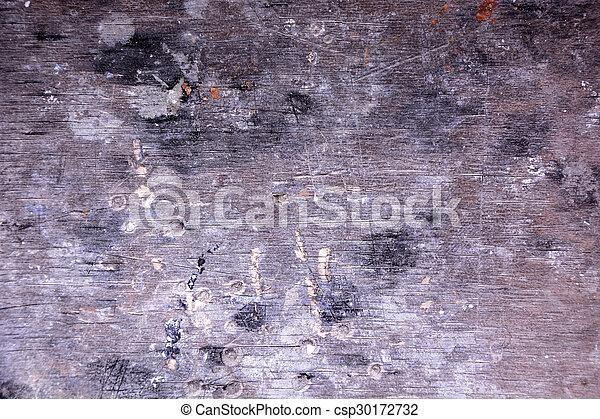 Vieja, vintage, madera gris - csp30172732