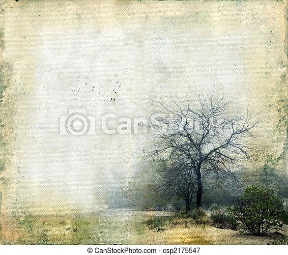 Árboles en un fondo grunge - csp2175547