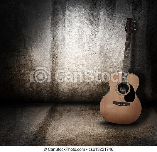 Guitarra acústica de guitarra grunge - csp13221746