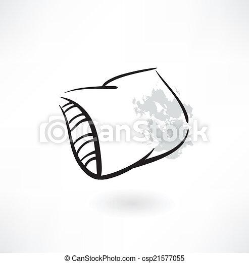 icono de almohada grunge - csp21577055
