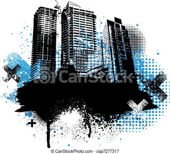 Diseño de la ciudad - csp7277317
