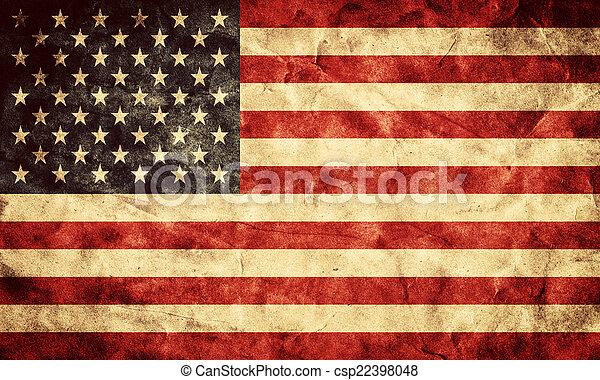 La bandera de EE.UU. grunge. Un objeto de mi colección de banderas retro - csp22398048