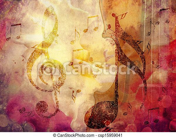 Un fondo musical - csp15959041