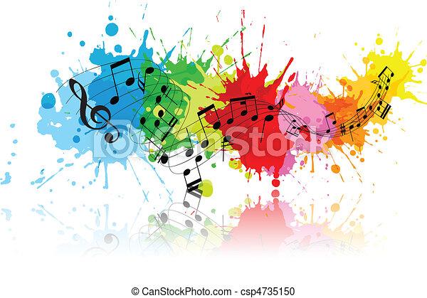 Abstracto música grunge - csp4735150