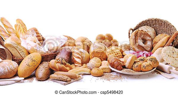 Un grupo de comida para pan fresco - csp5498420