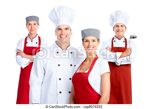 Grupo Chef. Cocinar. - csp8074333