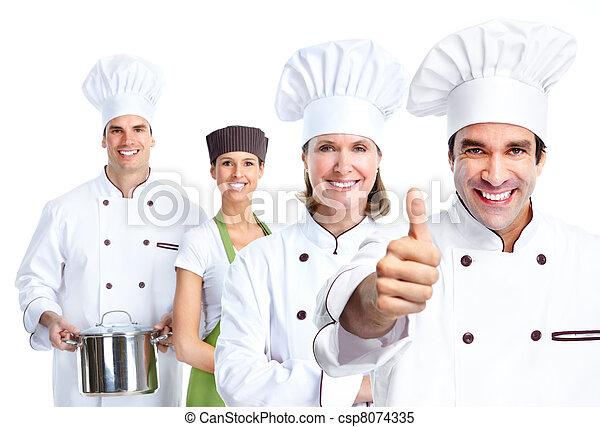 Grupo Chef. Cocinar. - csp8074335