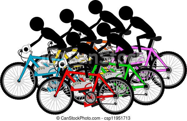 Grupo de ciclistas - csp11951713