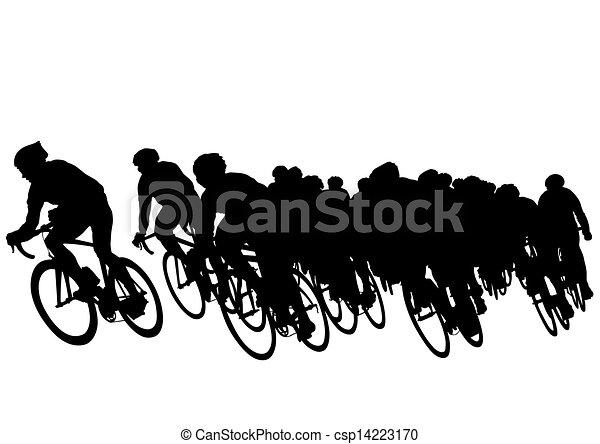 Grupo de bicicleta - csp14223170