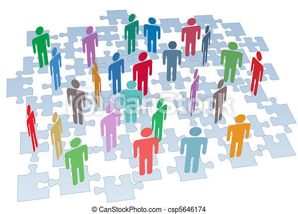 Recursos humanos en la red de rompecabezas - csp5646174