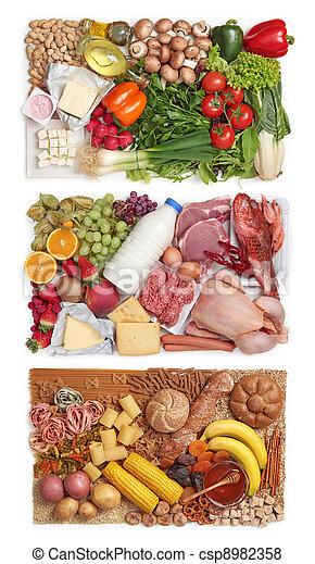 Grupos de combinación de alimentos - csp8982358