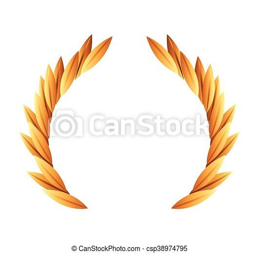 El icono de la corona de oro - csp38974795