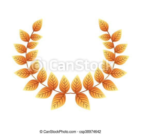 El icono de la corona de oro - csp38974642
