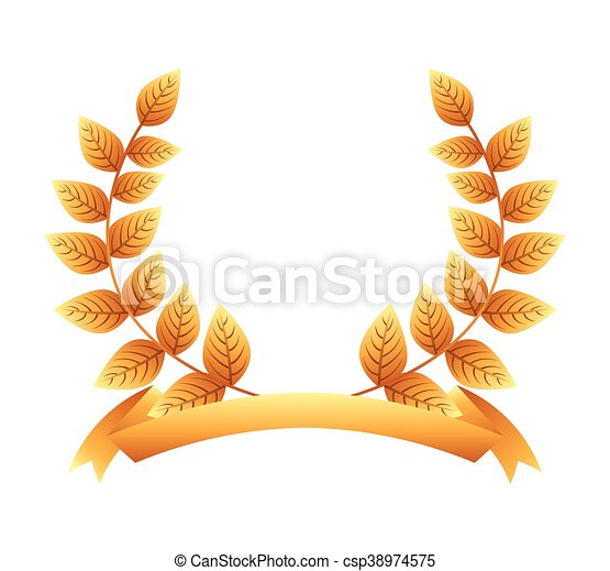 El icono de la corona de oro - csp38974575
