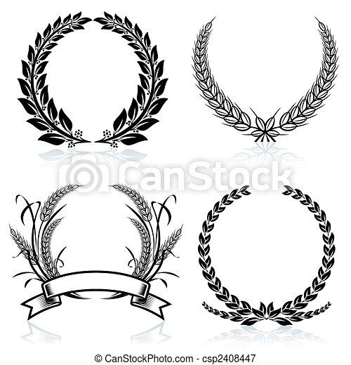 Las coronas de laurel - csp2408447