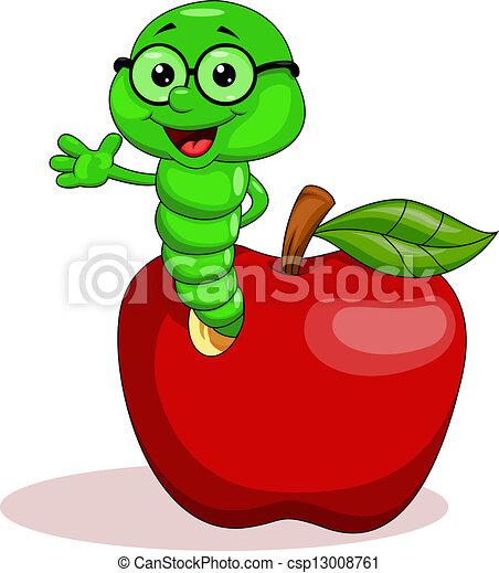 Gusano y manzana - csp13008761