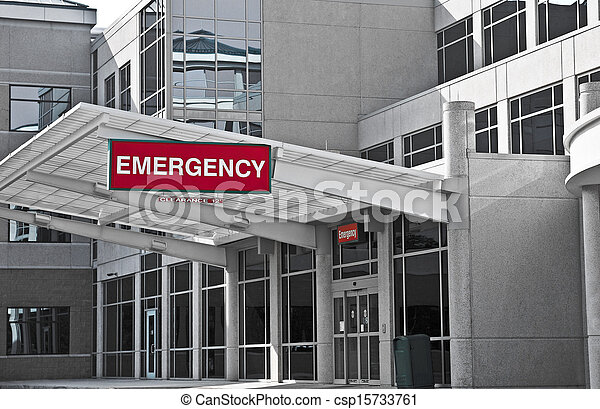 Sala de emergencias del hospital - csp15733761