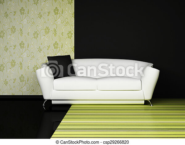 Diseño interior moderno de sala de estar - csp29266820